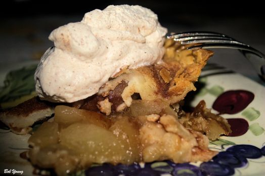 Skillet Apple Pie with Cinnamon Fresh Whipped Cream