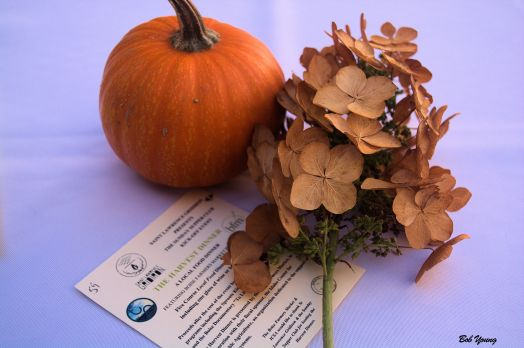Delightful table center pieces added to the Fall theme.