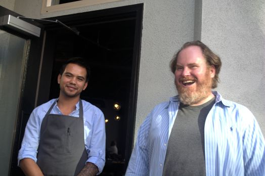 The Chef for the meal and on the right owner Brian Garrett. Thank-You both for this delightful evening.