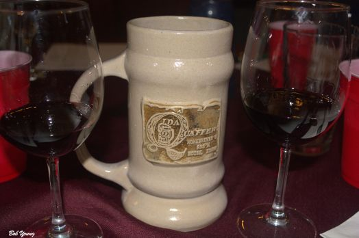 """An interesting comment from Cristi about Oktoberfest mugs (steins) and attendance at the event. """"Consumption about 5 million, 1-liter mugs [of beer] filled. Mugs are to be returned; Fine for stealing one is $60 US; security usually catches 150,000 each year, but the Hofbrau tent alone looses about 35,000 a year...6.3 million guests attended the 2014 Oktoberfest. 112 oxen, 48 calves and 6.4 million liters of beer were consumed. Tent security stopped 112,000 people from taking their mug home with them."""""""