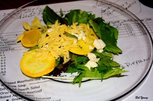 Orzo Squash Salad Nv Cruzat nu Brut Classico 12.5% alc. good, refreshing wine. went well with the salad. [19]