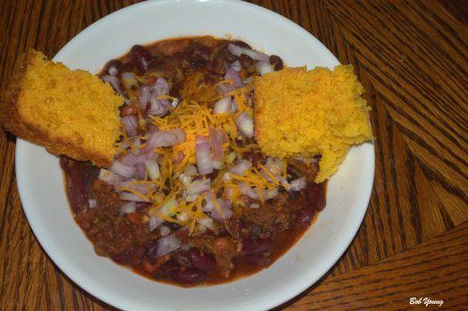 Mom's Chili Con Carne Guatemalan Corn Bread