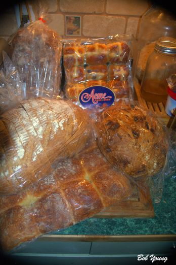 The breads we bought - Pull Apart Dinner Rolls,