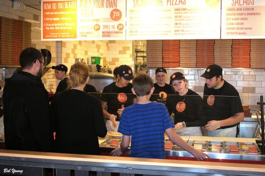 The Staff building the pizzas are really great with the customers - friendly and helpful. They smile!