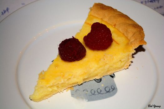 Chess Pie with Raspberries Henkell Brut 11.5% alc. good paring with the pie, even for this non-sparkling wine enthusiast. it did go well with the berries.  (We did purchase 2 bottles though.)  [17] $16.00