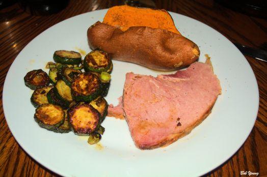 Baked Ham Grilled Zucchini Squash Baked Yam
