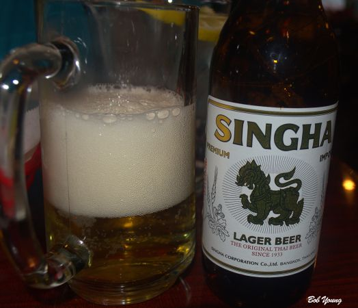 "Glad I tried this Thailand beer. Light and a refreshing lager that was a perfect match to the food. After a language lesson, it is pronounced ""sing-ha"" with a slight inflection on the ""sing"". Our Wait Person was delighted that we asked how to pronounce this. She was very helpful throughout the meal. Thank-You!"