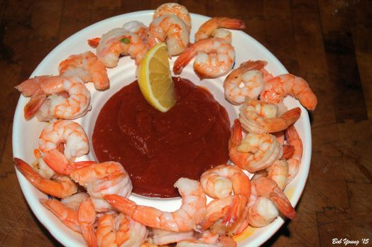 Steamed Shrimp with Tartar Sauce