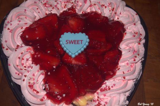 Strawberry Boston Chocolate Cake