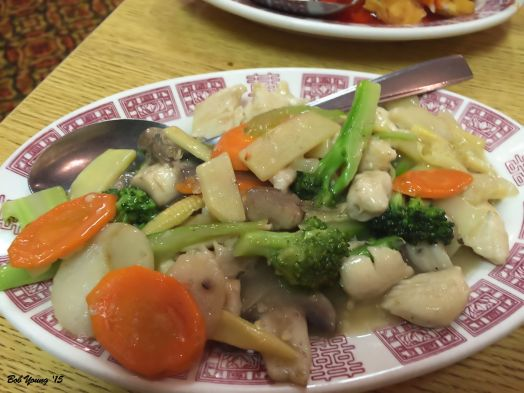 Broccoli Chicken Not bad, but lacked some intense, Oriental flavor.