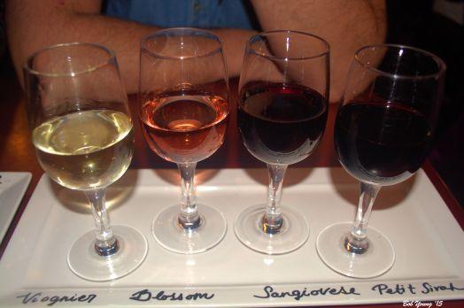 A flight of Williamson wines.