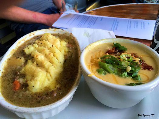 Shepard's Pie and Potato Soup. Both were delicious!