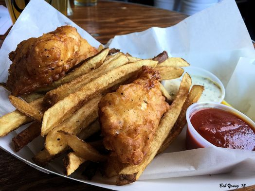 Fish and Chips are awesome. These are always on the menu.