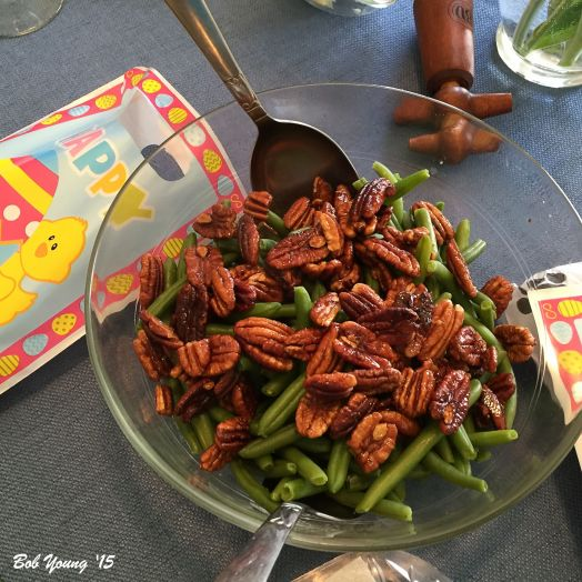 Green Beans with Candied Walnuts