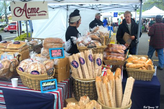 Buy some awesome bread from the Acme Bake Shop! Super good Old World Rye and Sourdough.