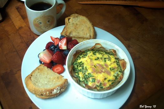 Potato Basket Eggs Acme Bake Shop Toasted Sourdough  Fresh Fruit Compote