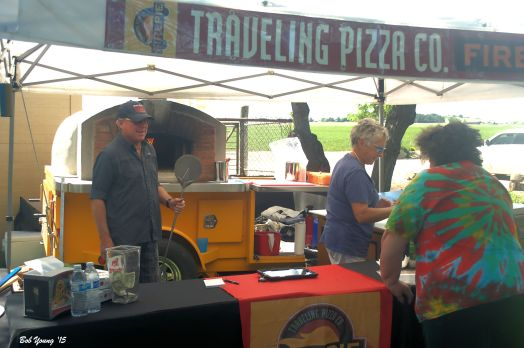Kitty Martin creates a masterful pizza. And all from scratch and using local products, especially the vegetables.