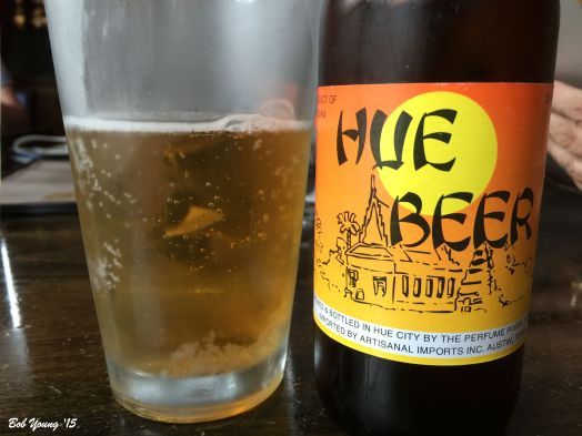 A very good Vietnamese beer. Light and refreshing on a hot summer day. Goes great with the meal. They also carry Ravenswood wine.