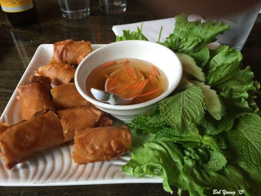 Crispy Spring Rolls These are the classic, deep fried Vietnamese spring roll filled with ground pork, carrots, onions, cellophane noodles.