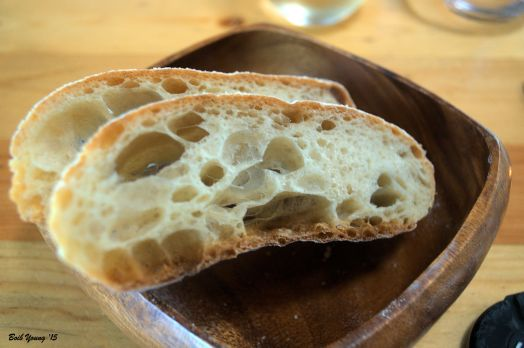 It is great to see that they use as much local products as possible. Here is Acme Bake Shop Sourdough Bread. For a complete list of their farmer suppliers, check their web site.