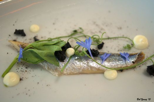 Sardine with Micro Greens and Flowers