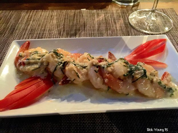 Shoup Pernod Shrimp - garlic, shallot, basil, Pernod cream sauce