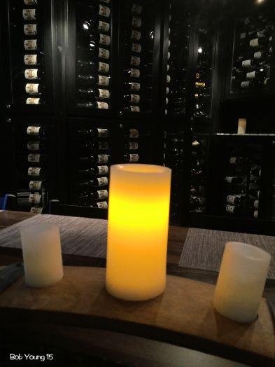 Wine cellar ambiance.
