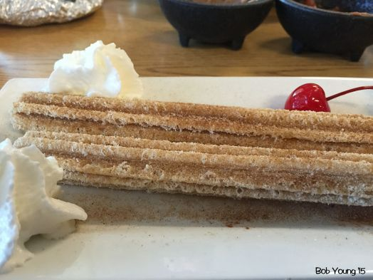 Churros for dessert with an good coffee.