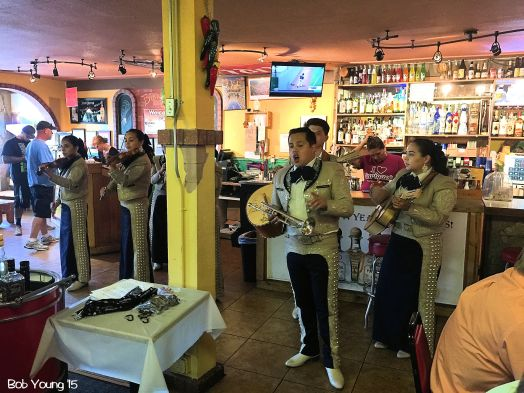 If you are lucky, you just might hear and enjoy a Mariachi Band. This one was awesome!
