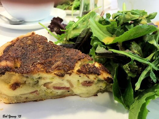 Quiche Lorraine. Fresh made and scrumptious.