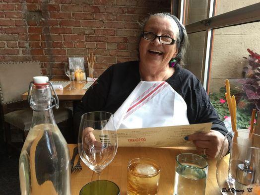 Robin enjoys her Birthday Dinner!