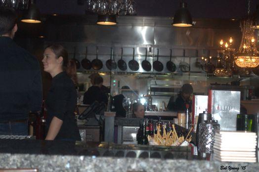 The open kitchen area.