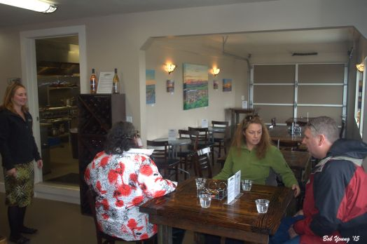 The seating area in the restaurant.
