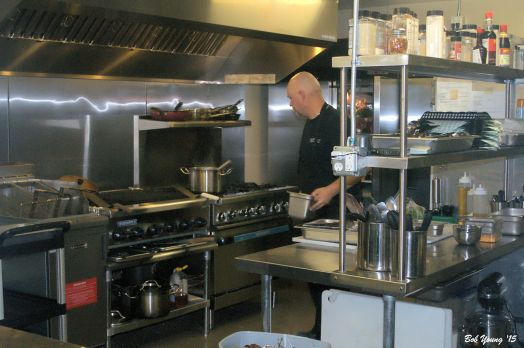 Chef Storm Hodge in his kitchen.