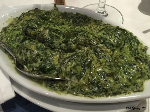Creamed Spinach for a side dish. Delicious.