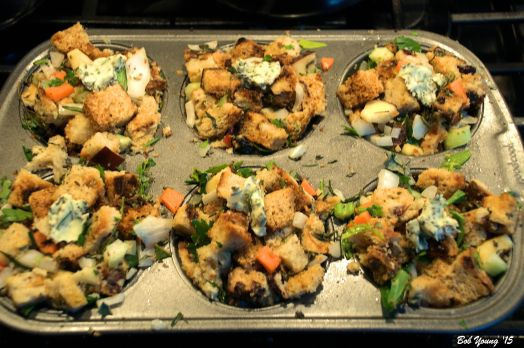 Tried to make individual Stuffing Cakes. I will work on this.