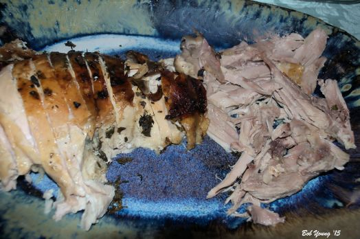 The turkey was worth waiting for. The drippings made super gravy! Smooth, rich and wonderful.