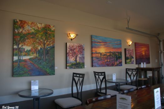 More artwork by Stephanie Hodge. It is for sale if you wish. Contact Stephanie at the winery.