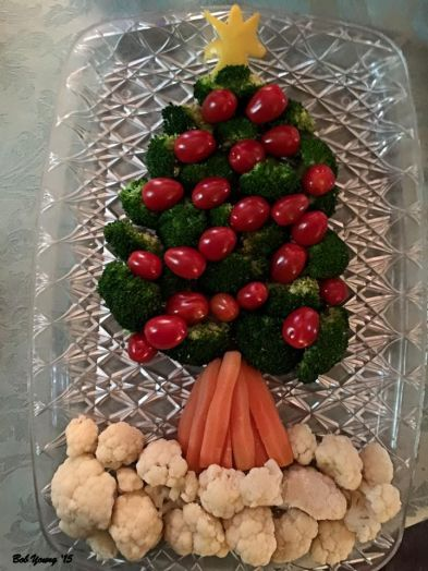 Robin made this awesome Christmas Tree Veggie Spread. ()The initial idea came from my Neice, Meg Devine! Thanks Meg.)