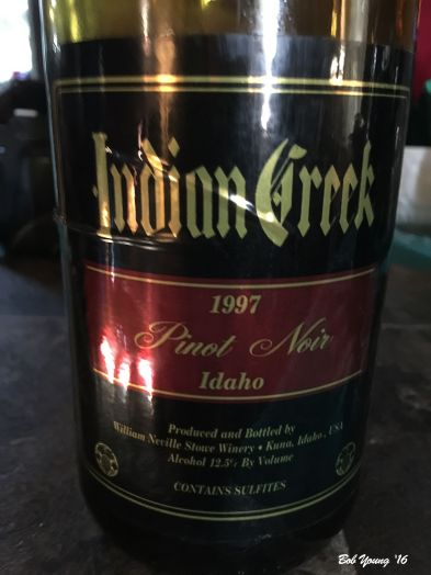 1997 Indian Creek Winery Pinot Noir