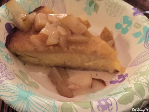 Brandy Poached Pears on Custard Pie Marnie and Mac made this, too!