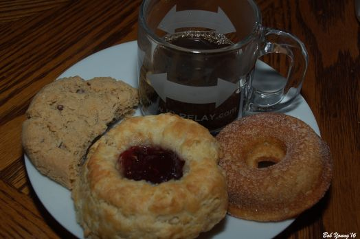 Thumbprint Cookie, Jelly Rolls and a wonderful Apple Doughnut.