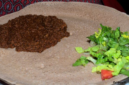 Menchet - Ground Beef with Butter, Onion, Tomato and Berbera Sauce