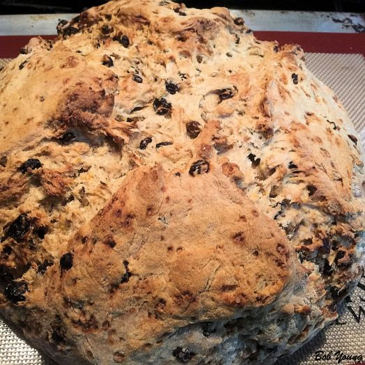 The finished product of our soda bread.