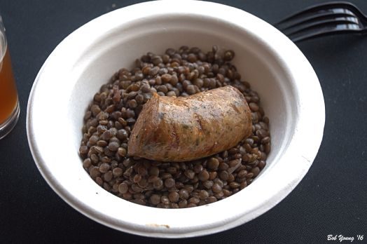 The Modern Hotel supplied us with a delicious Sausage and Lentil dish.