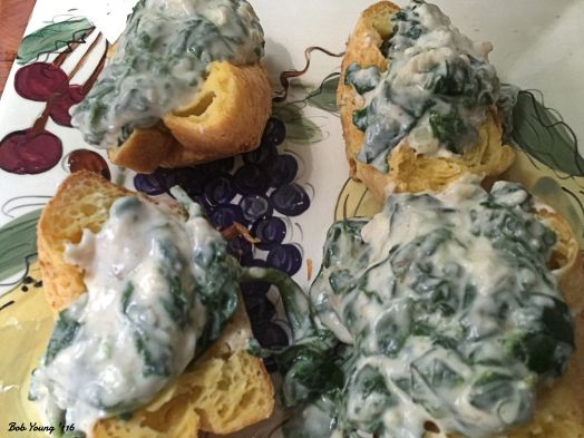 Popovers wiith Creamed Spinach