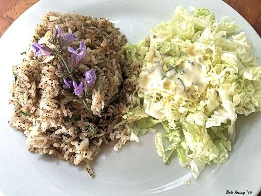 Crab Rice and Shredded Napa Cabbage