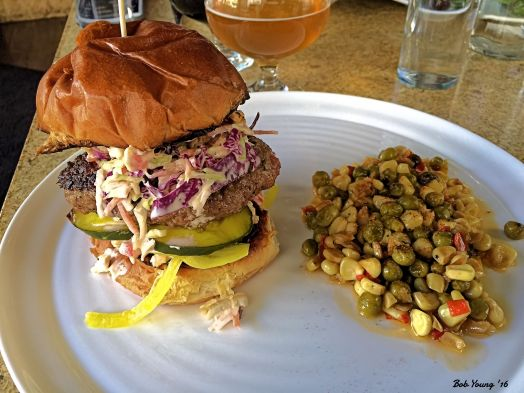 Rebellion Burger and Succotash. Some of the best succotash I have ever eaten.