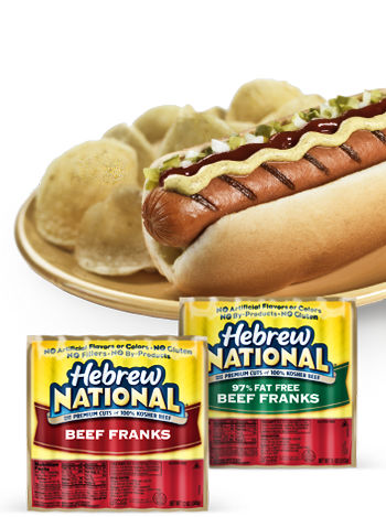 Robin likes t he Hebrew National Hotdogs. And I must say, they're not bad.
