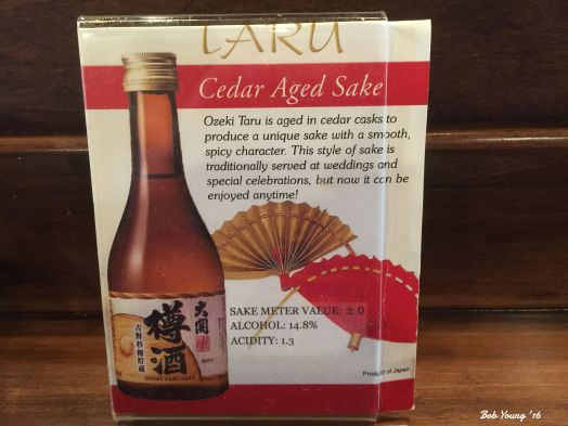 Saki goes extremely well with sashimi or sushi.